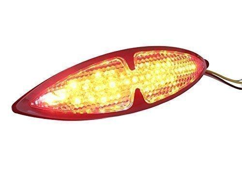 Motorbike Motorcycle Custom Black Universal LED Rear Stop Tail Light Alchemy Parts Ltd