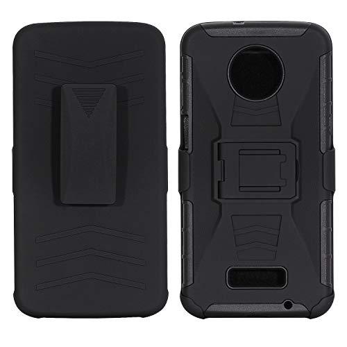 AIIYG DS,Motorola Moto Z3/Moto Z3 Play Case,Heavy Duty Full Body Kickstand Belt Clip Holster Hybrid Shockproof Protective 3 in 1 Case Cover Military Outdoor Sport for Moto Z3/Moto Z3 Play (Black)