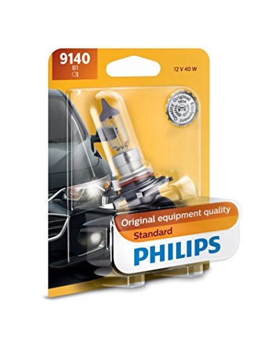 - Philips 9140 Standard Halogen Replacement Front Fog Bulb, 1 Pack