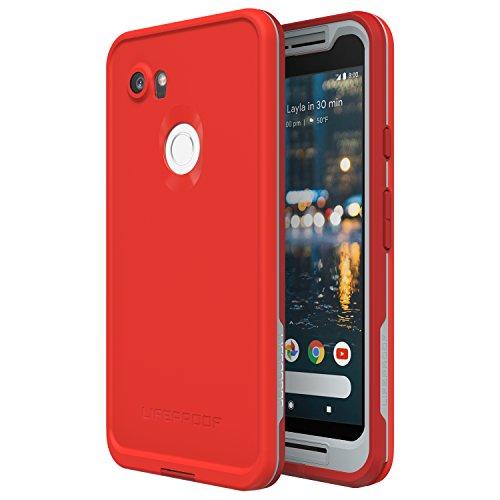 Lifeproof 77-56159 FRĒ Series Waterproof Case for Google Pixel 2 XL - Retail Packaging - FIRE Run (Cherry Tomato/Sleet/Molten Lava)