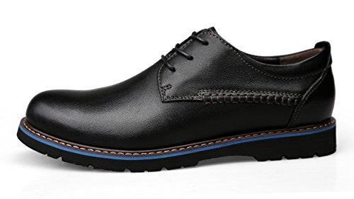 Men' s Genuine Leather British Business Casual Shoes Plain Toe Oxfords