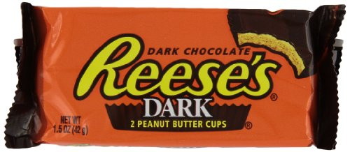REESE'S Peanut Butter Cups, Dark Chocolate Candy, 1.5 Ounce (Pack of ()
