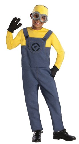 Best Halloween Costumes Minion (Despicable Me 2 Deluxe Dave Minion Costume, Medium)