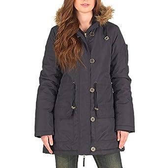 77a12240aa8 Fluid Womens Parka Jacket Black (16 UK 16 Bust 40
