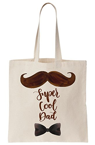 Tote Cool Canvas Moustache Bag Super Gorgeous Dad wTqvRvXWz