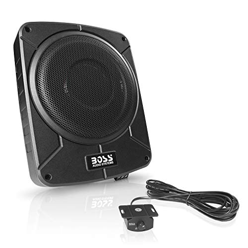 BOSS Audio Systems BAB10 Amplified Car Subwoofer - 1200 Watts Max Power, Low Profile, 10 Inch Subwoofer, Remote Subwoofer Control, Great for Vehicles That Need Bass But Have Limited Space (Subwoofer Amplifier Active)