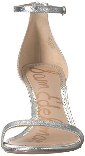 Patti Cu Soft Sam para Sandalias con a Edelman Leather Metallic Mujer Silver IT7q1wFq5c