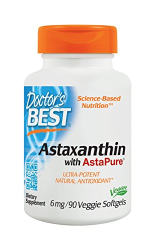 Cheap Doctor's Best Astaxanthin, Non-GMO, Gluten Free, Vegan, Soy Free, Powerful Antioxidant, 6 mg, 90 Veggie Softgels