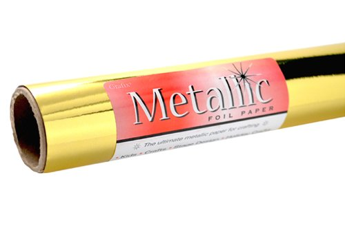 Metallic Rolls Paper (Grafix Gold Metallic Foil Paper Roll 26-Inch-by-6-Feet)