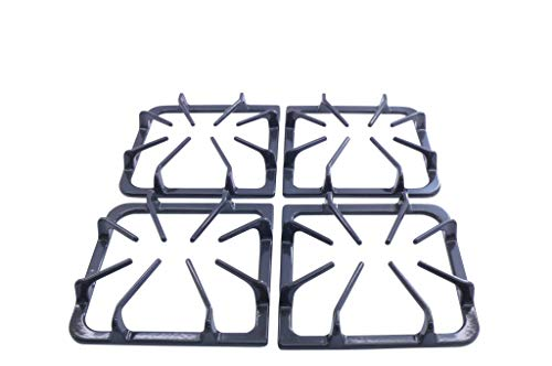 Gas Burner Grate - Kitchen Basics 101 Burner Grate Kit Replacement for Frigidaire AP3965768, 318221523, Set of 4 in Graphite Gray