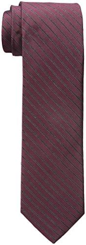 Calvin Klein Men's Glitter Pinstripe Tie, Burgundy, One Size