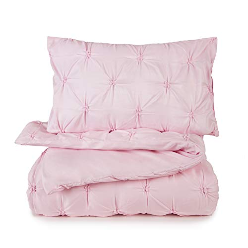 Tadpoles 2 Piece Twin Gathered Duvet Set, Pink