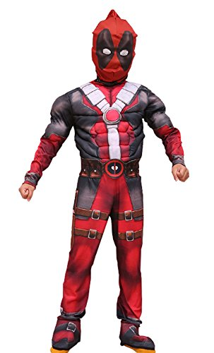 Spider Man 3 Muscle Costumes (Valecos Kids Toddler's Costume Zentai Bodysuit Cosplay 3D Muscle Full Sets Prop)