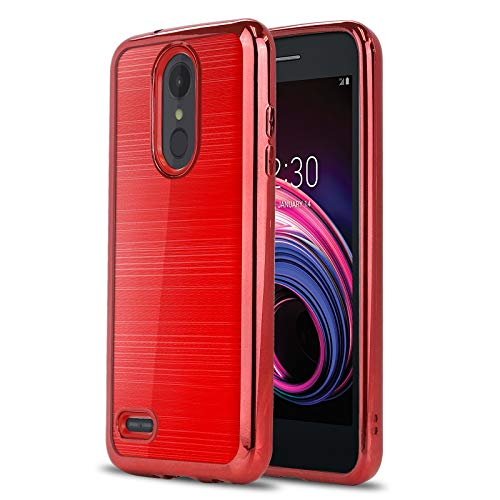 Phone Case for [LG Tribute Empire (Boost Mobile, Sprint)], [Chrome Series][Red] Shockproof Soft TPU Rubber [Chrome Design Electroplated Bumper] Cover for Tribute Empire (Boost Mobile, Sprint) (Boost Mobile Cases)