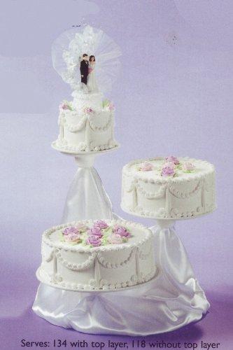 Surprising 3 Tier Cake Stand Tree Dessert Wedding Cupcake W Satin Staggered Funny Birthday Cards Online Chimdamsfinfo