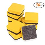 SUNVORE 30 Pack Magnetic Whiteboard Dry Erase Eraser Chalkboard Cleansers Dry Erase Board Erasers for Classroom, Home and Office, 2 x 2 inch (Yellow)