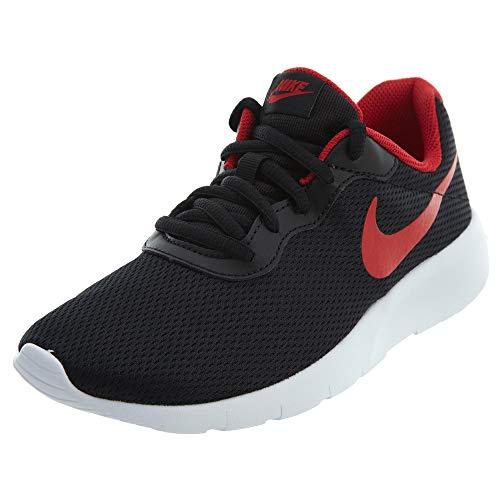 366c2022a3864 Nike Kids Tanjun (GS) Black/University Red White Running Shoe 6.5 Kids US