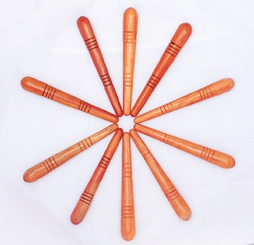 Оптовые 10 шт. Традиционный тайский Рефлексология ног массаж Stick Массажер Красное дерево