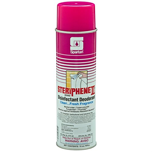 - Spartan Steriphene II Disinfectant Deodorizer, Clean Fresh, 20 oz aerosol, Case of 12