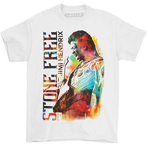 Jimi Hendrix Men's JH Stone Free T-shirt Large White