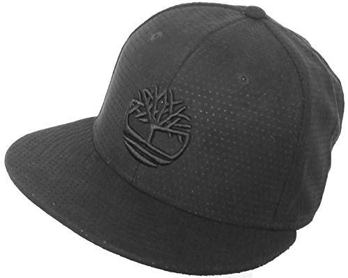 - Timberland Perforated Faux Suede Flat Brim Hat Snapback