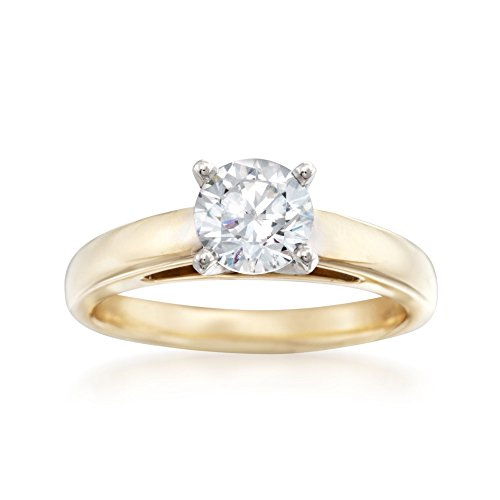 Ross-Simons 14kt Yellow Gold Solitaire Cathedral Engagement Ring Setting
