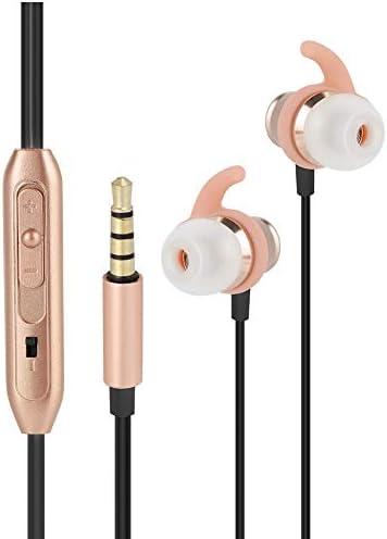 イヤホン 有線 イヤフォン 4Dステレオ効果 ハンズフリーヘッドセット メガベース 3.5 MM 金属 高性能マイク 重低音 高音質 カラオケの音質 ノイズリダクション機能 高精細通話 Hi-Fi品質 金色(金)