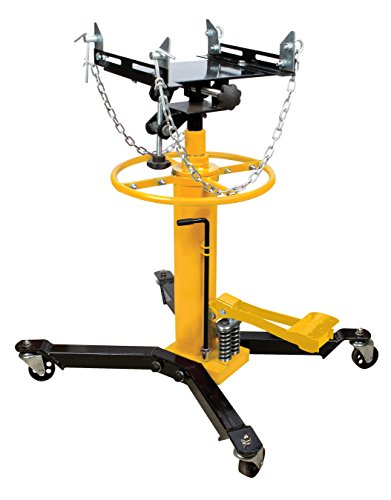 Stage Transmission Jack (Performance Tool W1608 1/2-Ton (1,100 lbs) 2 Stage Adjustable Height Hydraulic Telescoping Transmission Jack With Pedal 360° Swivel Wheel Lift Hoist)