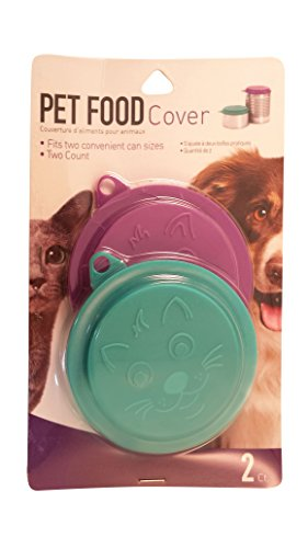 (Set of 2 Pet Food Covers, Colors Vary, Inner Ring 3 Inch, Outer Ring 3.5 Inch, 1-Pack (2 Covers in Total))