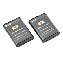 DSTE® 2x EN-EL23 Replacement Li-ion Battery for Nikon Coolpix P600 P610 S810c P900 P900S Camera