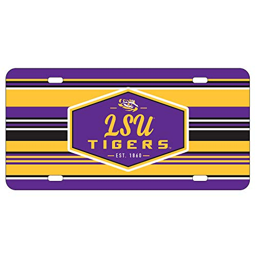 Wincraft LSU Tigers Official NCAA License Plate Acrylic (Lsu Acrylic)