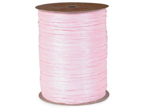 Light Pink Matte Raffia Ribbon, 1/4