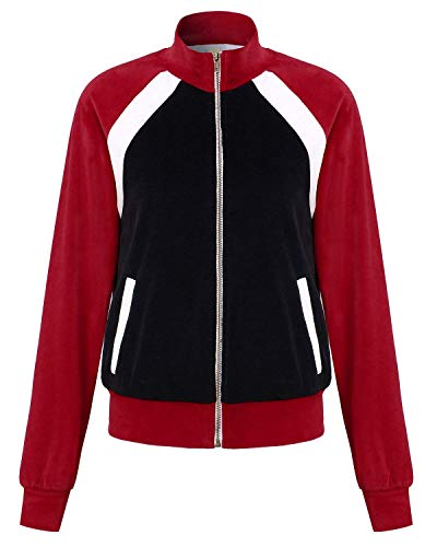 Blouson Automne Large Bomber Sweatshirts Capuche Styles Fliegenjacke Femme Mode Outwear Blouson Coat Basic Jeune Fermeture A Transition Gaine Blouson avec Printemps Sportif Casual Young qwZIptZ