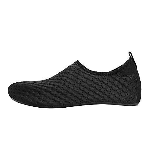 Shoes for embossing Black Shoes for Swim Womens Water Exercise Socks and Yoga Beach Quick Barefoot Mens Summer Aqua Dry d0n7UTw7x