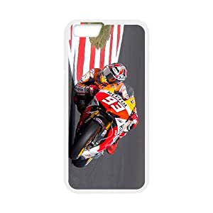 iPhone 6 Plus 5.5 Inch Cell Phone Case White Marc Marquez XUU Cell Phone Case Cover
