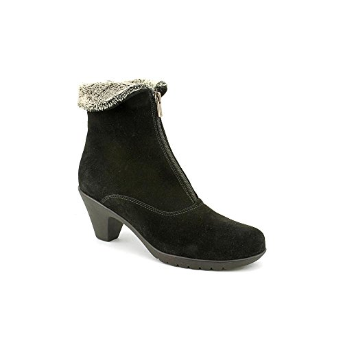 La Canadienne Womens Dublin Ankle Boot In Black Suede 11 M