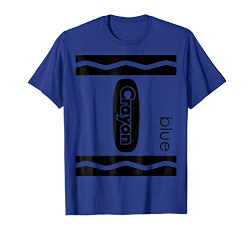 Blue Crayon Halloween Couple Friend Group Costume T-shirt]()
