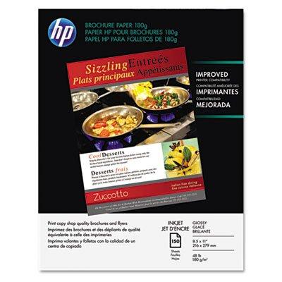 Inkjet Brochure/Flyer Paper, 98 Brightness, 48lb, 8-1/2 x 11, White, 150/Pack, Sold as 150 Sheet by HP