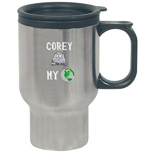 Corey Rocks My World Funny Cute Valentines Day Gift - Travel Mug