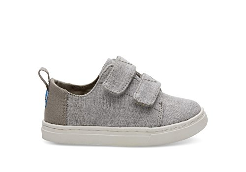 47dd79ccd77 TOMS Kids Mens Lenny (Infant Toddler Little Kid) Drizzle Grey Slub Chambray
