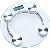 Grey Sand Electronic Round 8 mm Thick Tempered Glass Digital Weighing Scale