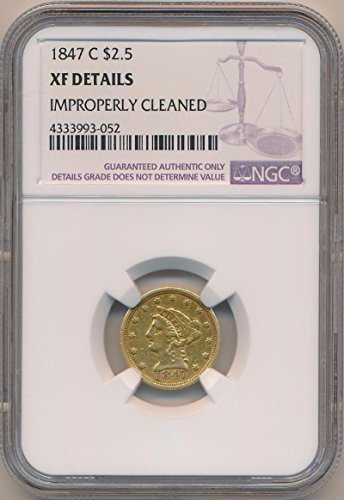 1847 C $2.50, Gold (Pre-1933) XF Details NGC