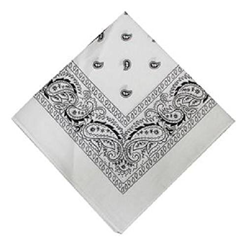 Product Of Bandana Printed White, Count 1 - Bandana / Grab Varieties & Flavors by GD (Image #1)