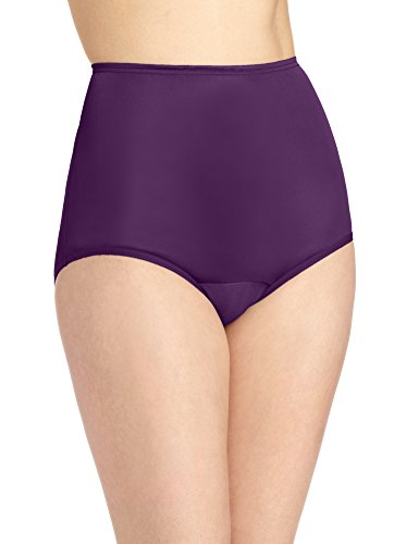 Vanity Fair Women's Perfectly Yours Ravissant Tailored Nylon Brief Panty - Size X-Large / 8 - Sangria