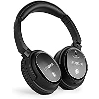 EFOSHM Wired Active Noise Cancelling Headphones Over-ear, Noise-isolating Earphones with MIC, Hifi Stereo Headset Foldable, Soft Rebound Memory Protein Leather Earmuffs for PC/Cell Phones/TV