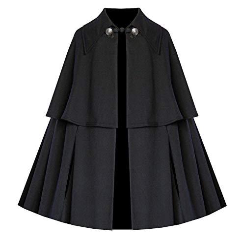 Lestat Halloween Costume (Cykxtees Victorian Vagabond Epaulet Historical Steampunk Gothic Renaissance Capelet Short Cloak)