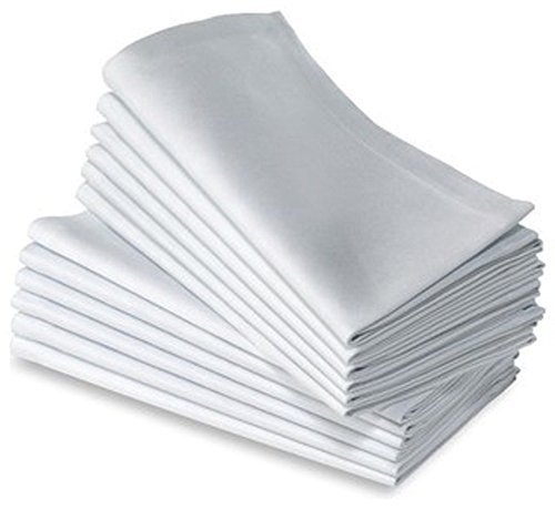 JUWENIN, Cotton Dinner Napkins 24 Pack (20 inches x20inches) Soft & Comfortable - Durable Hotel Quality - Ideal for Events & Regular Home Use (White) ()