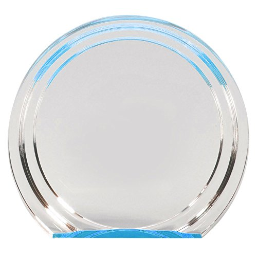(Customizable 7 Inch Silver and Gold Double Halo Acrylic Award, Includes Personalization)