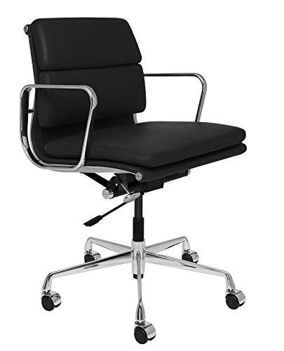 SOHO Premier Soft Pad Management Chair (Soft Pad, Black) (Soho Black Leather)