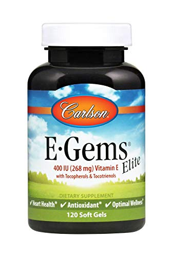 Carlson E-Gems Elite 400 IU (268 mg), Vitamin E Family, Heart Health, 120 Soft Gels by Carlson (Image #4)